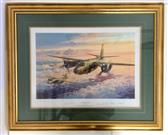 """Robert Taylor Marauder Mission Signed By Pilots Of B-26 Bomber 26"""" x 32"""""""